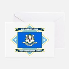 Connecticut Flag Greeting Cards (Pk of 10)