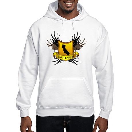 Banner, Heart & Wings - Los A Hooded Sweatshirt