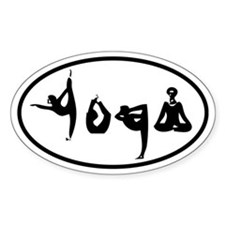 YOGA Oval decal Stickers
