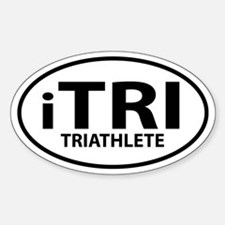 iTri, Triathlete Oval decal Decal