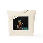Solarized Preying Mantis Tote Bag