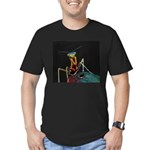 Solarized Preying Mantis Men's Fitted T-Shirt (dar