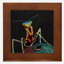 Solarized Preying Mantis Framed Tile