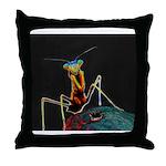Solarized Preying Mantis Throw Pillow