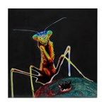 Solarized Preying Mantis Tile Coaster