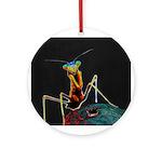Solarized Preying Mantis Ornament (Round)