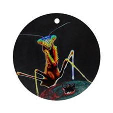 Solarized Preying Mantis Ornament (Round)