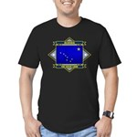 Alaska Flag Men's Fitted T-Shirt (dark)