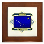 Alaska Flag Framed Tile