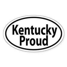 KENTUCKY PROUD Oval decal Decal