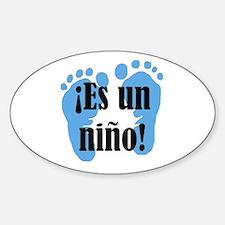 Es Un Nino! It's a Boy! Sticker (Oval)