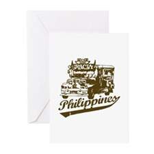 Philippines Jeepney Greeting Cards (Pk of 10)