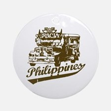Philippines Jeepney Ornament (Round)