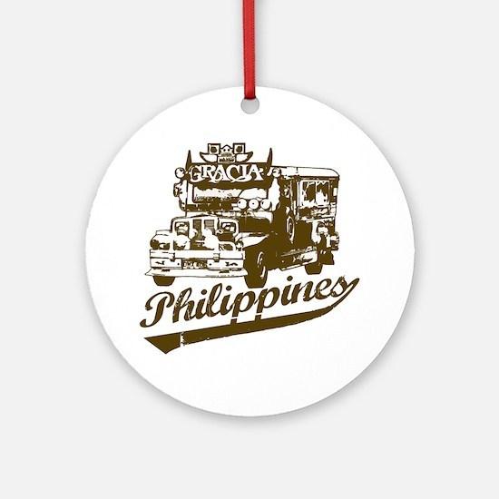 Philippines Jeepney Ornament (Round)