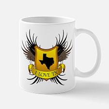 Banner, Heart & Wings - I Lov Mug