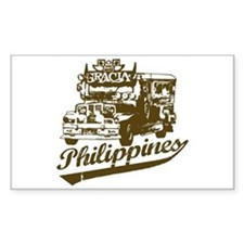 Philippines Jeepney Rectangle Decal