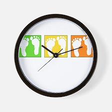 Baby Block Footprint Wall Clock