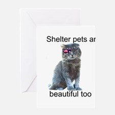 Shelter Pets Greeting Card
