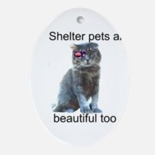Shelter Pets Ornament (Oval)