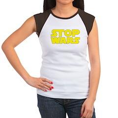 Stop Wars Women's Cap Sleeve T-Shirt