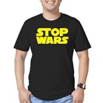 Stop Wars Men's Fitted T-Shirt (dark)