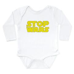 Stop Wars Long Sleeve Infant Bodysuit