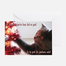British Shorthair Cat Greeting Card