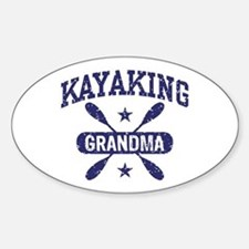 Kayaking Grandma Sticker (Oval)