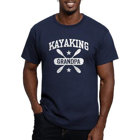 Kayaking Grandpa Men's Fitted T-Shirt (dark)