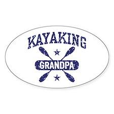 Kayaking Grandpa Decal