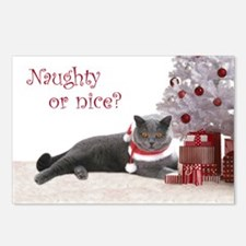 Cat Under Christmas Tree Postcards (Package of 8)
