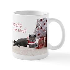 Cat Under Christmas Tree Mug