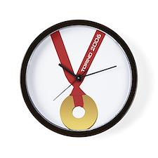 Funny Torino 2006 Olympics Go Wall Clock