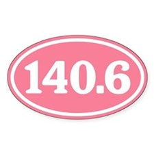 140.6 Pink Triathlon Oval Decal