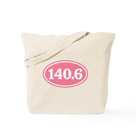 140.6 Pink Triathlon Oval Tote Bag