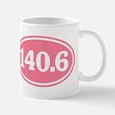140.6 Pink Triathlon Oval Mug