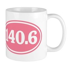 140.6 Pink Triathlon Oval Mug