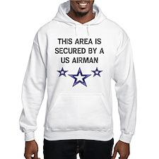 AREA SECURED US AIRMAN Hoodie