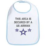 AREA SECURED US AIRMAN Bib