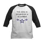 AREA SECURED US AIRMAN Kids Baseball Jersey