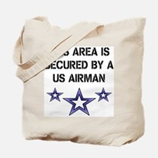 AREA SECURED US AIRMAN Tote Bag