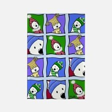 KiniArt™ Winter Westies Rectangle Magnet