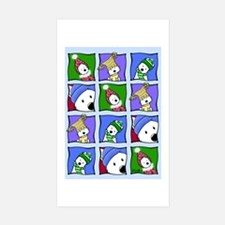 KiniArt™ Winter Westies Sticker (Rectangle 10 pk)