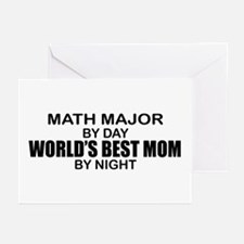 World's Best Mom - MATH MAJOR Greeting Cards (Pk o