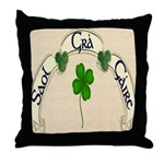 Live, Love, Laugh (Gaelic) Throw Pillow