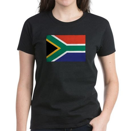 South Africa Flag Women's Dark T-Shirt