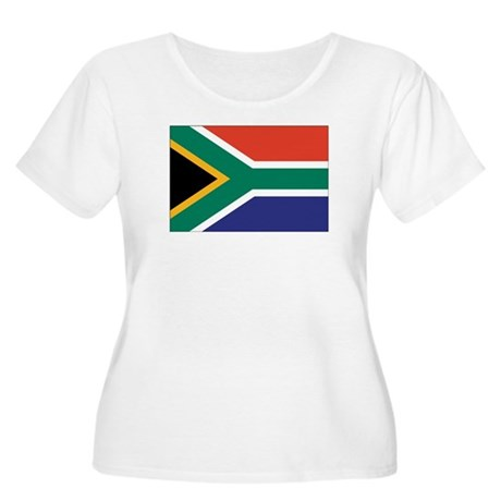 South Africa Flag Women's Plus Size Scoop Neck T-S