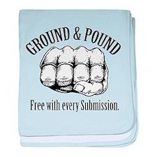 Ground & Pound MMA Glove baby blanket