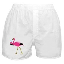 Pink Flamingo Drinking A Martini Boxer Shorts