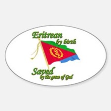 Eritrean by birth Sticker (Oval)